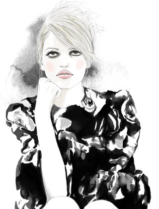 Illustration of English-Rose