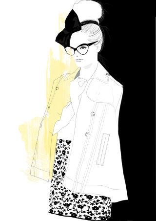 Illustration of Girls that wear glasses
