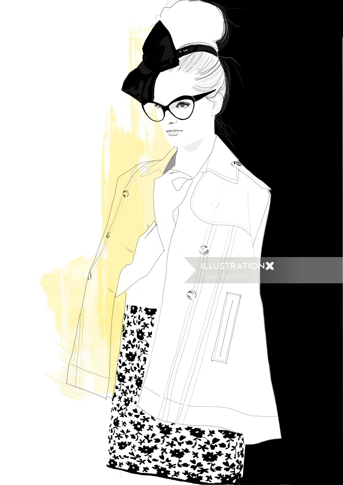 Illustration of Girls that wear glasses
