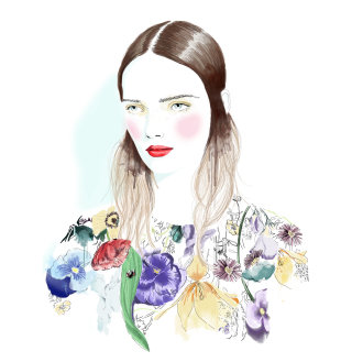 Illustration of beautiful woman by tracy turnbull