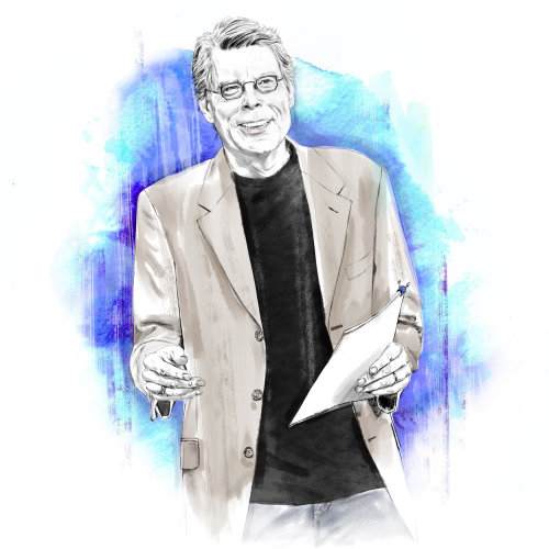 Retrato de Stephen King por Tracy