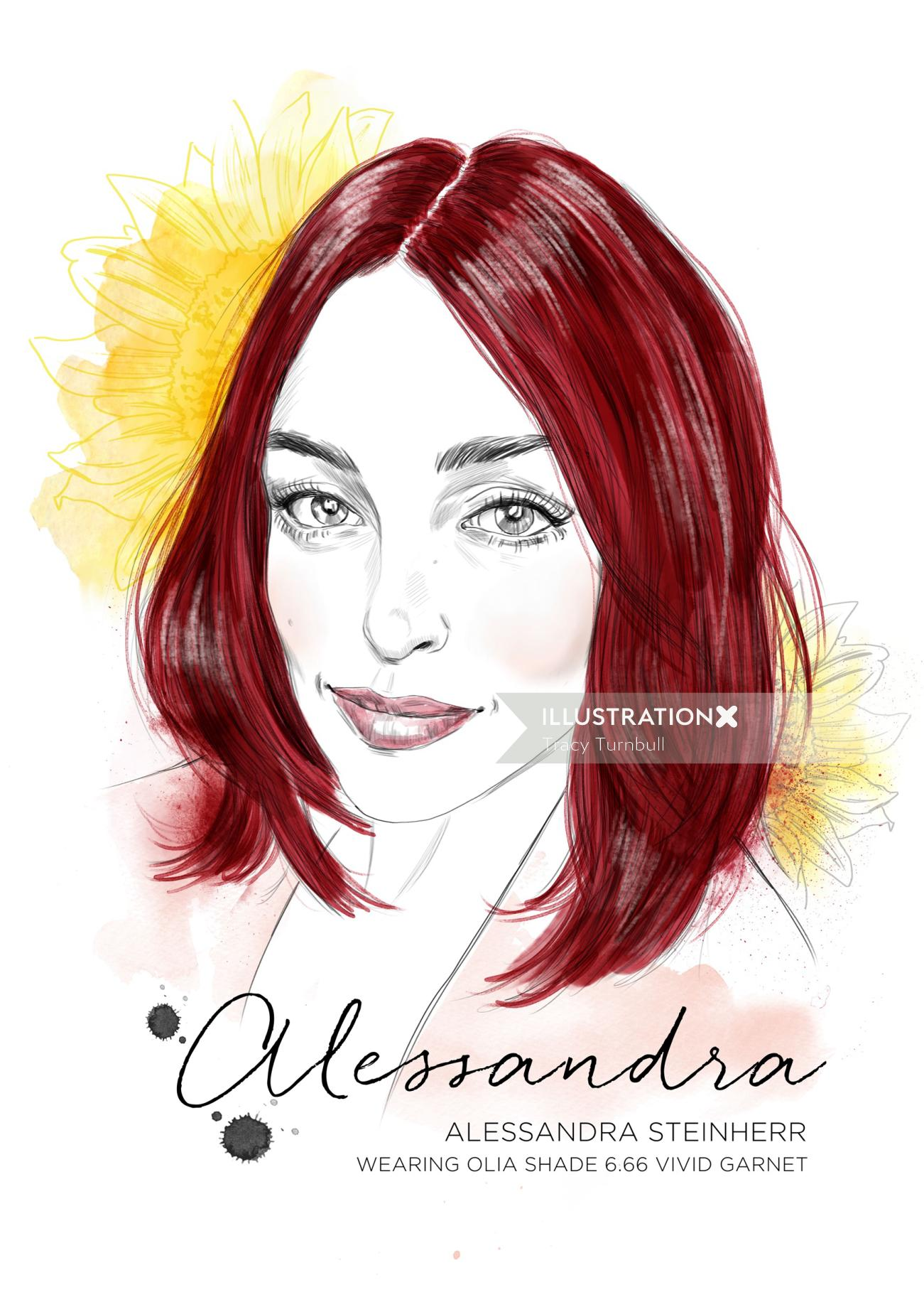 Portrait of Allesandra by Tracy
