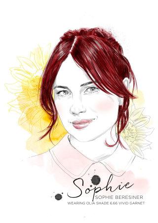 Garnier Olia red campaign Sophie