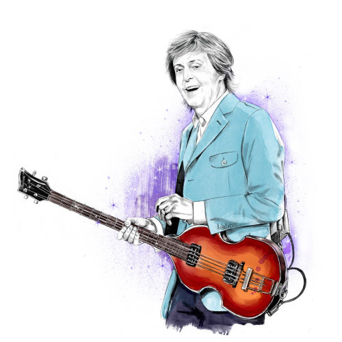 Retrato de Paul McCartney por Tracy