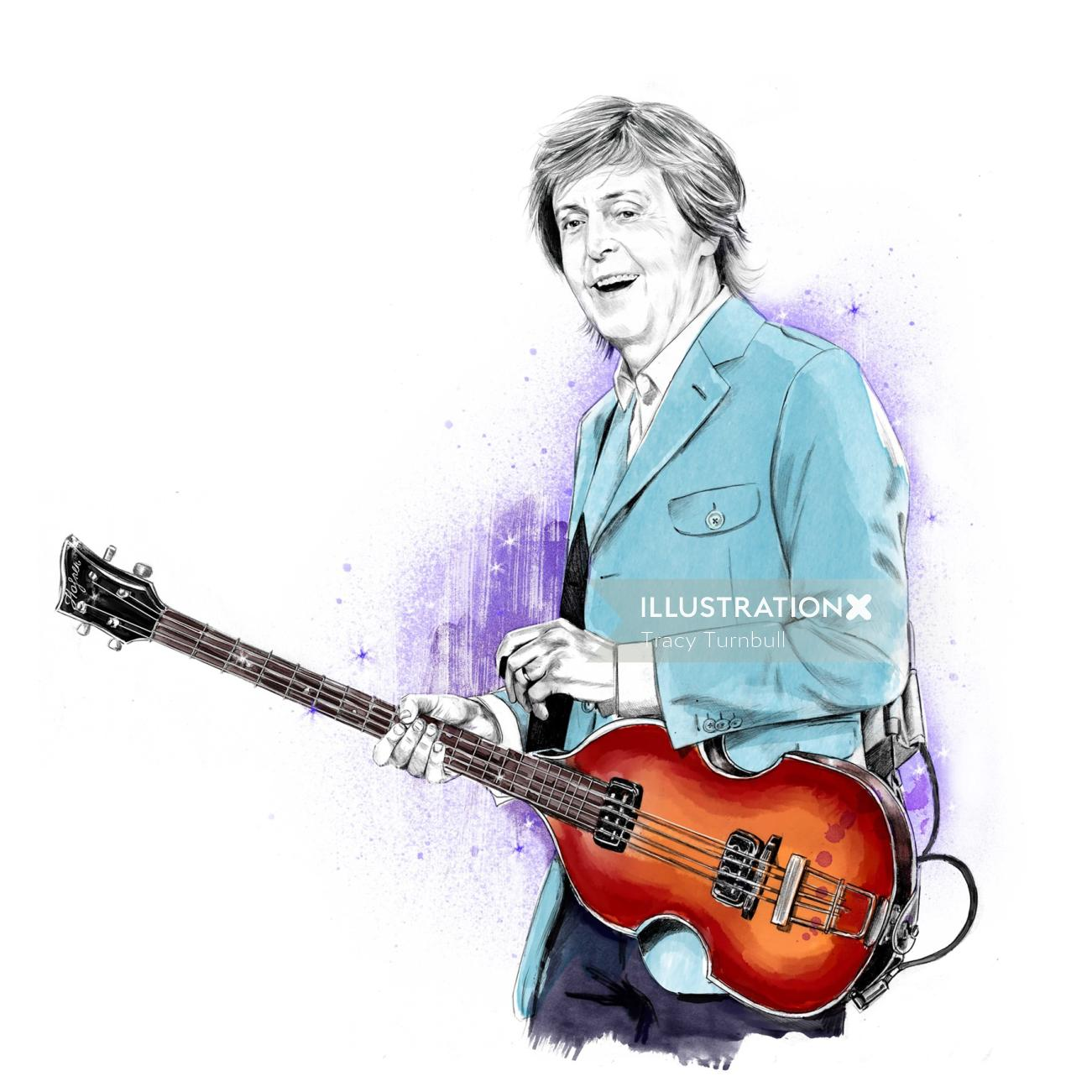 Portrait of Paul McCartney by Tracy