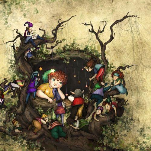 Children The Woodkeeper's window