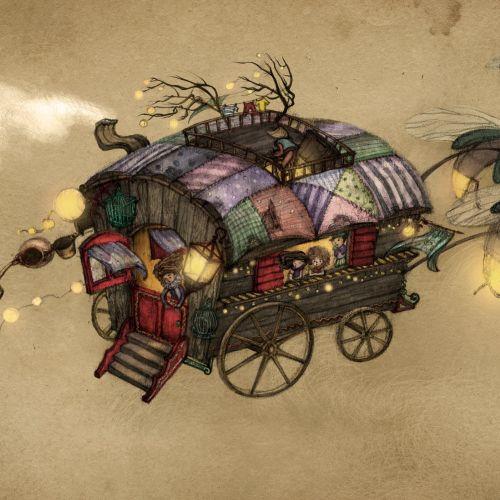 Cartoon The Gypsy Wagon