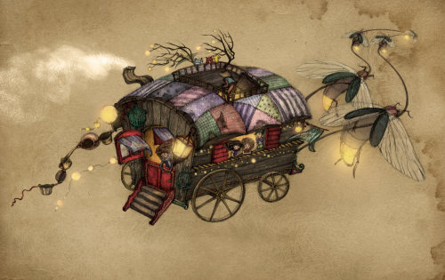 Cartoon The Gypsy Wagon