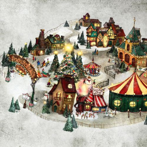 Fantasy Snow Village