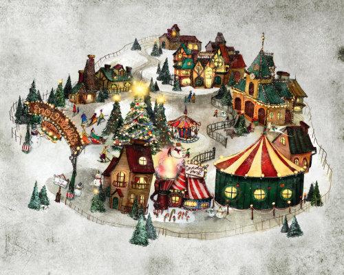 Village de neige fantastique