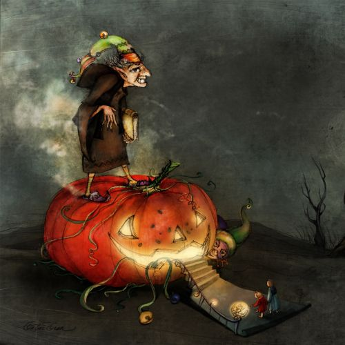 Children The Pumpkin Witch and her Trap