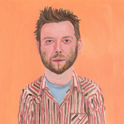 peinture de l'homme barbe robuste