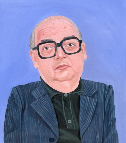 Painting of old bald man