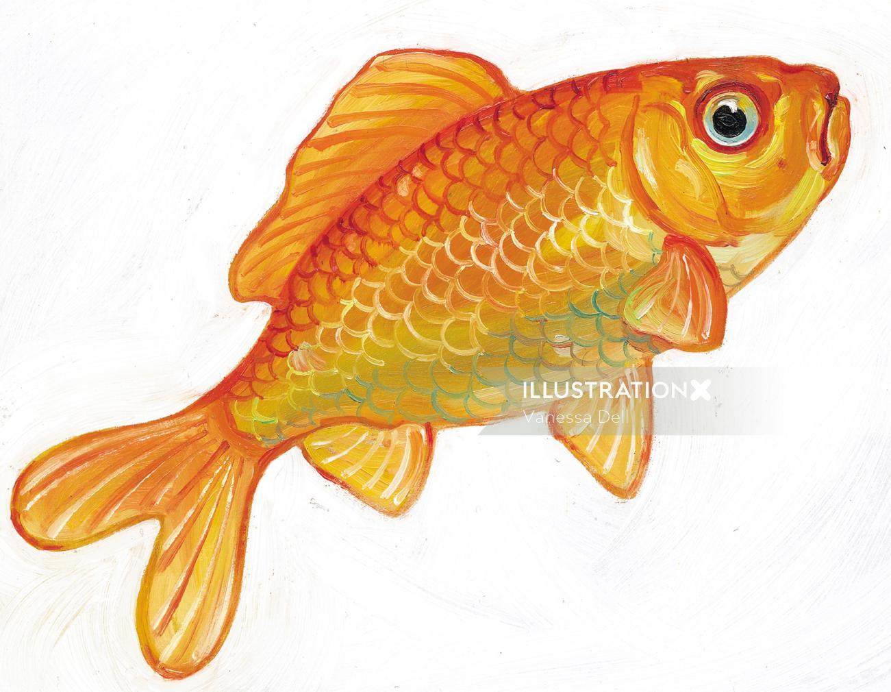 colorfill art of Goldfish