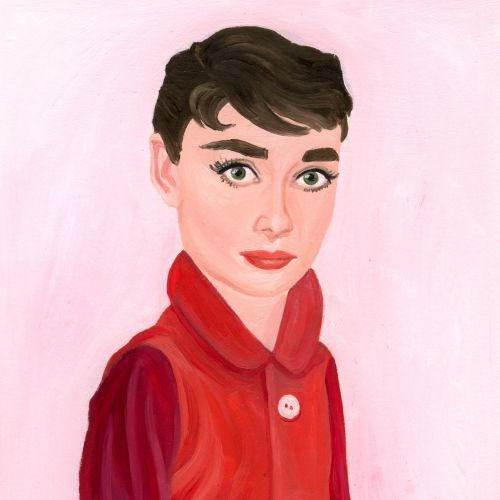 Portrait of Audrey Hepburn