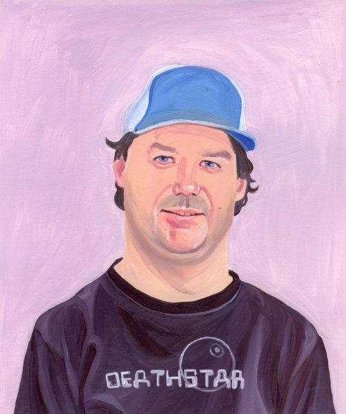 Peinture d'homme au bonnet bleu