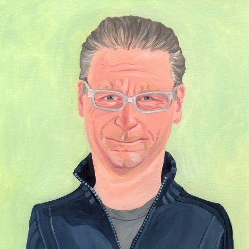 Portrait of a stylish old man