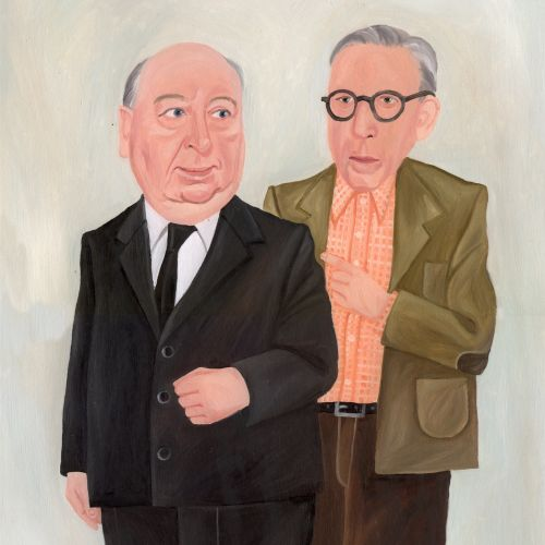 Portraits of Hitchcock & Wertham