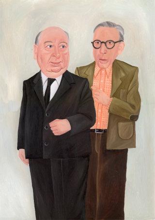 Portraits of Hitchcock & Wertham