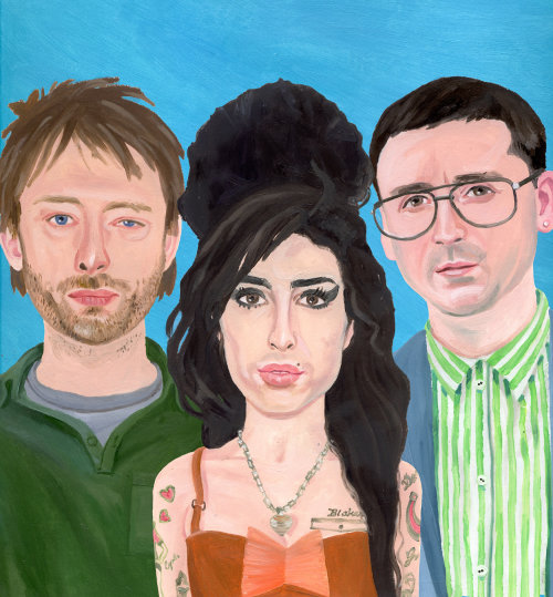 Retratos de Amy Winehouse, Thom Torke y Alexis Taylor