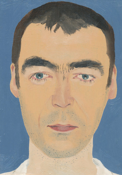Painting of serious man