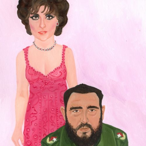 Painting of woman with millitary general