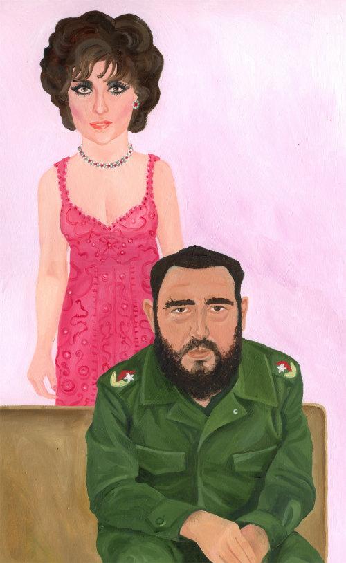 Peinture de femme avec général militaire