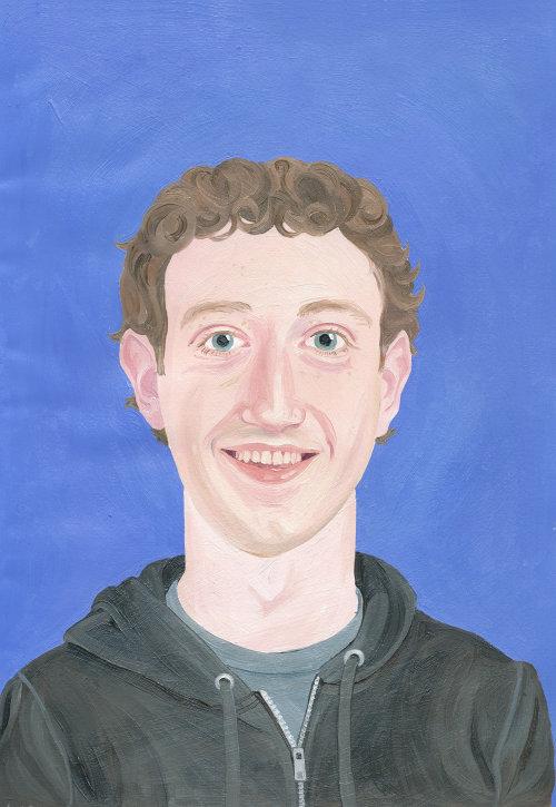 Peinture de Mark Zukenberg