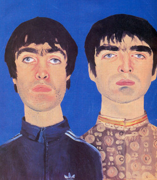 Portraits of Liam and Noel Gallagher