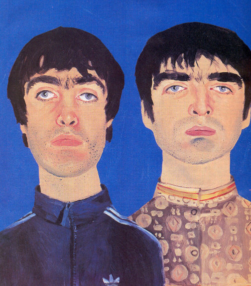 Retratos de Liam y Noel Gallagher