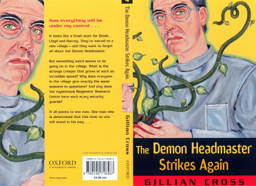 Cover page of the demon headmaster strikes again