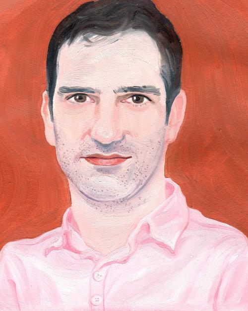 peinture de portrait d'homme d'âge moyen