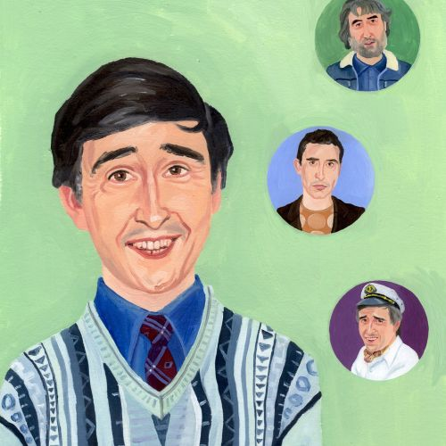 Painting various stages of man