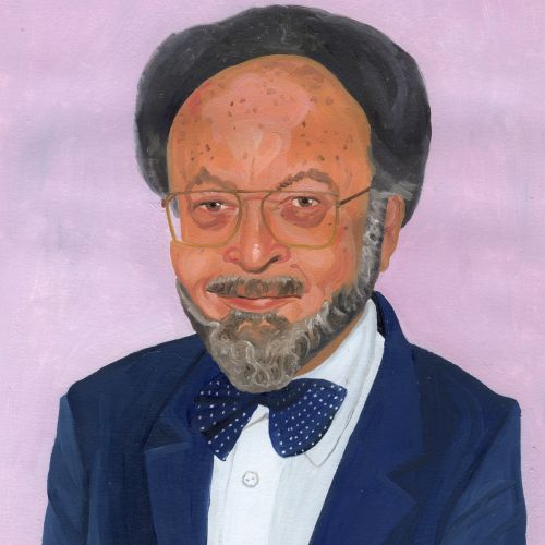 Painting of man in suit