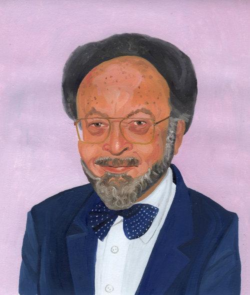 Peinture d'homme en costume