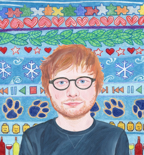 Retrato do cantor / compositor Ed Sheeran