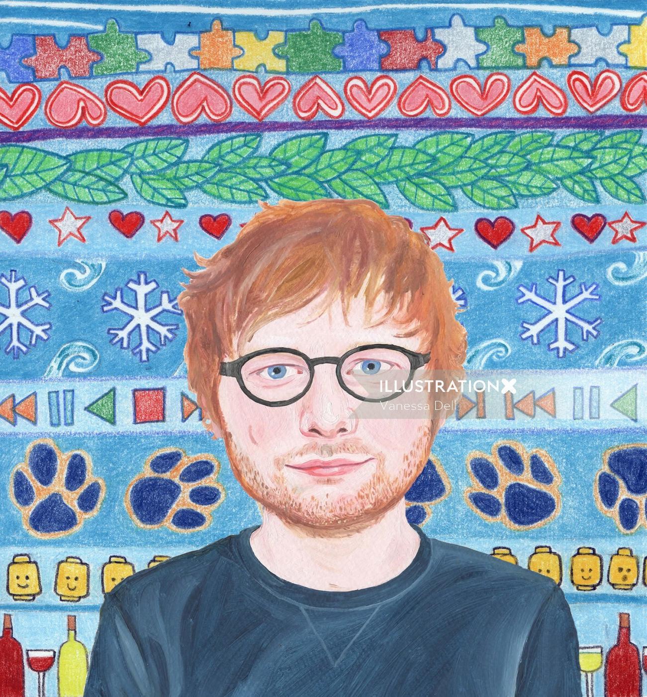 Portrait of Singer/Songwriter Ed Sheeran