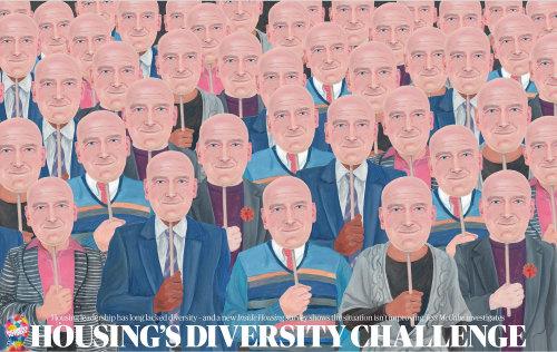 manque de diversité montrant le portrait des gens