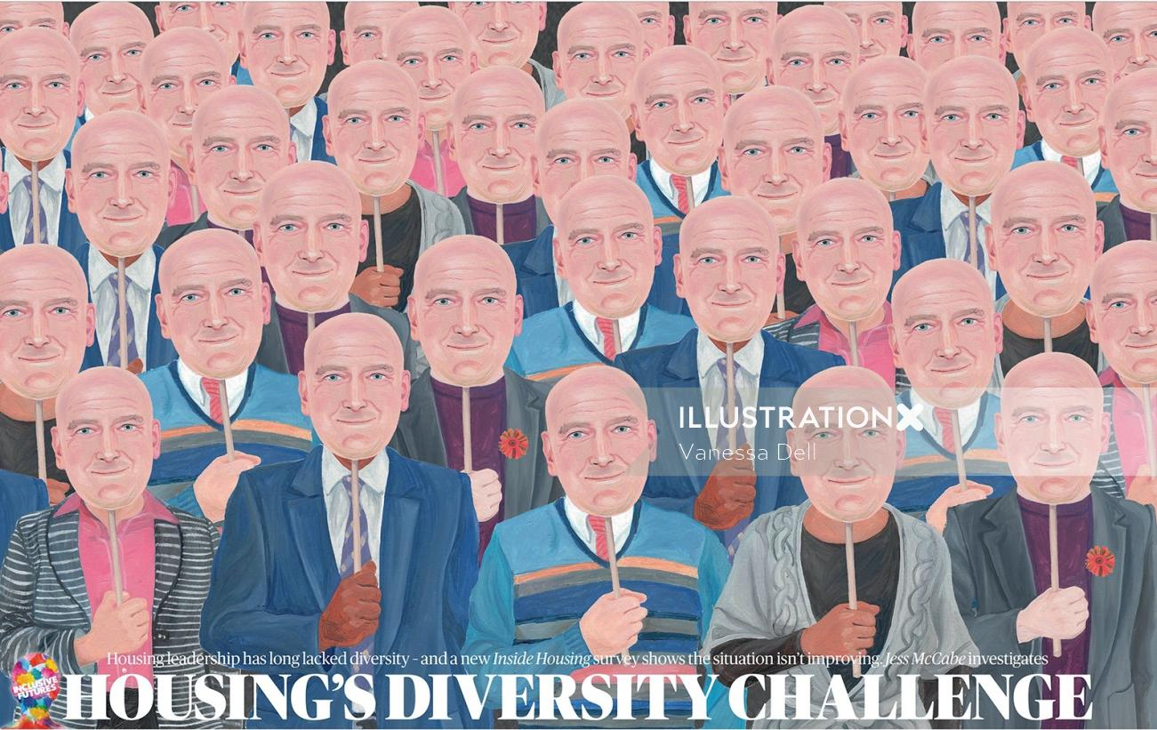 lack of diversity showing people portrait