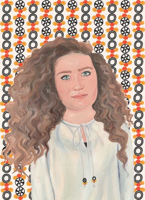 Retrato de mujer Ahed Tamimi para FT Weekend