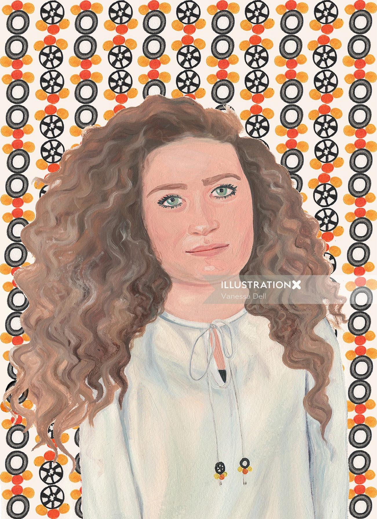 woman portraiture Ahed Tamimi for FT Weekend