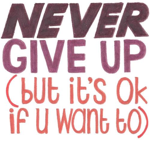 Lettrage ne jamais abandonner