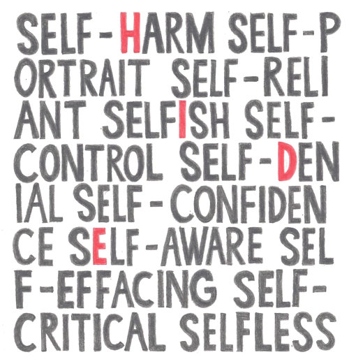 Lettering of Self Harm