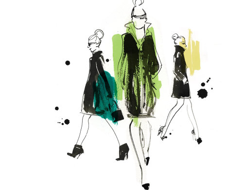 Fashion Illustration By Veronica Collignon