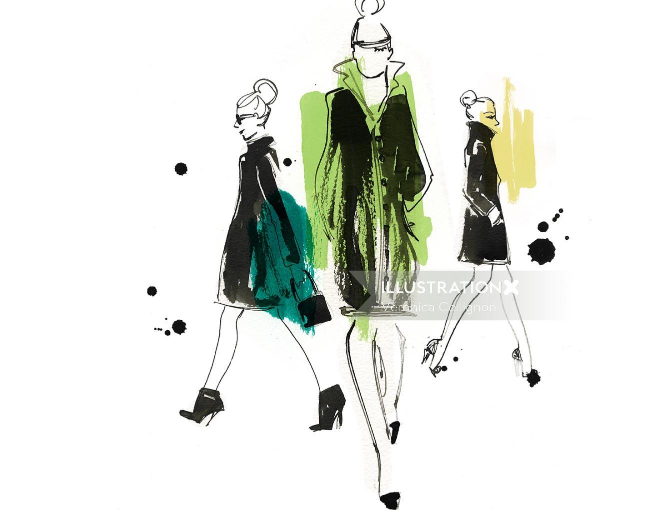 Fashion Illustration By Veronica Collignon