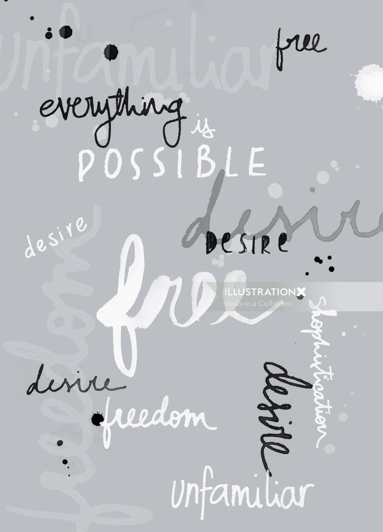 Lettering Design By Veronica Collignon Illustrator