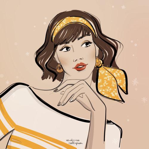 Ilustración de belleza de mujer