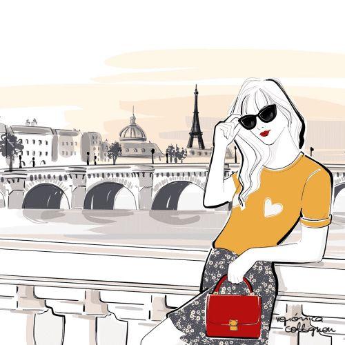 Lifestyle woman posing in paris