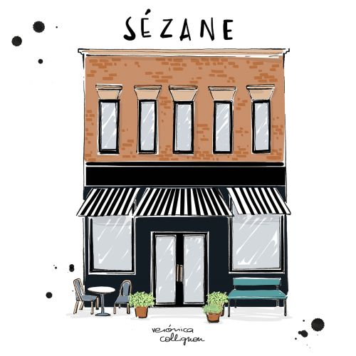 Architecture illustration of sezane