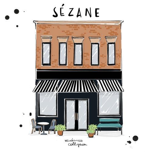 Architecture illustration of sezane